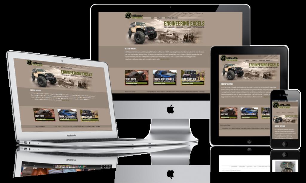 esponsive web design example eazi-web